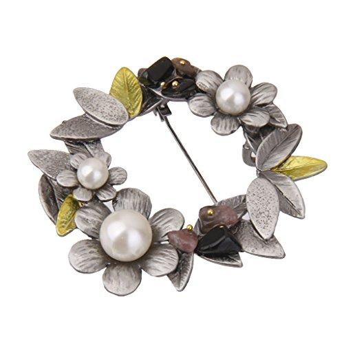 [해외]노 명품 빈티지 여성 브로치 핀 스카프 링 클립 화환/No brand item vintage female brooch pin scarf ring clip wreath