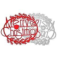 FORUU カットダイス メリークリスマス メタルステンシル スクラップブック エンボス DIYクラフト One-Size マルチカラー