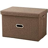 折りたたみ 収納ボックス フタ付き ファブリックボックス 折り畳み収納ボックス 押入れ収納 ボックス 収納ケース フタ付き 折り畳み収納(S コーヒー)