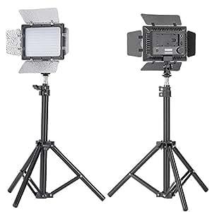 """Bestlight W160 LED撮影スタジオ開き戸式ライト連続照明パネルセット LEDビデオライトセット Sony、Canon、Panasonic、Hitachi、Samsung&類似デジタル一眼レフカメラに対応 内容:(2)カラーハニカムゲルを2つ付くW160 LED開き戸式ビデオライト+(2)ミニアルミニウム撮影バックライトスタンド 最大高度32""""/80cm レフ板、ソフトボックス、ライト、アンブレラ、ブックライトに適用"""