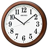 セイコー クロック 掛け時計 電波 アナログ コンパクトサイズ 茶 メタリック KX379B SEIKO
