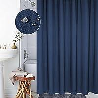OneMtoss シャワーカーテン バスカーテン カーテンリング付属 防水 五つ星ホテル品質 防カビ加工 (120x180cm/150x180cm/180x180cm/120x200cm/180x200cm)サイズ選べます 取付簡単!
