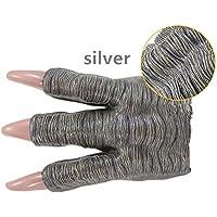 2個の銀の恐竜の爪の手袋