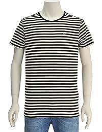 (スコッチ アンド ソーダ) SCOTCH&SODA メンズ 半袖Tシャツ ブラック&ホワイト [並行輸入品]