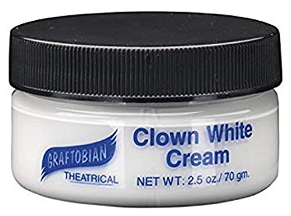 カフェバドミントン旋回Clown White Creme Foundation (2.5 oz.) ピエロホワイトクリームファンデーション(2.5オンス)?ハロウィン?クリスマス?2.5 oz.