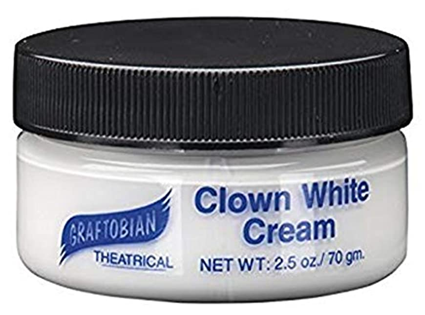 フルーツ野菜気質情熱的Clown White Creme Foundation (2.5 oz.) ピエロホワイトクリームファンデーション(2.5オンス)?ハロウィン?クリスマス?2.5 oz.