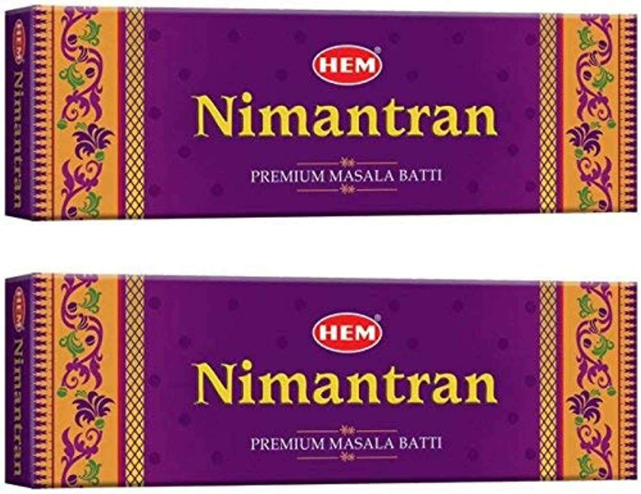 農民投げるチョップHem Nimantran Incense Stick Pack of 2(12.4 cm x 9.4 cm x 24 cm, Brown)