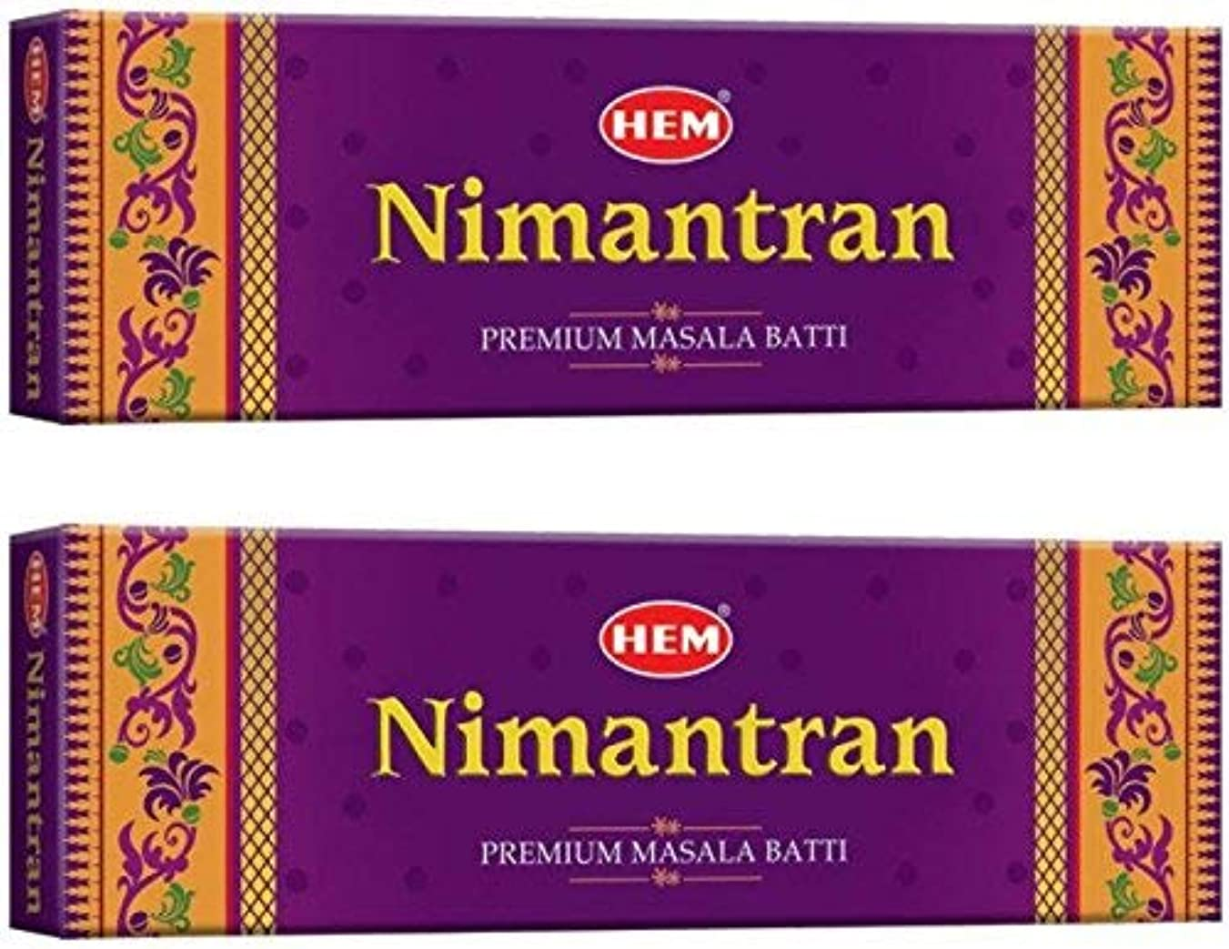 速い開発ガレージHem Nimantran Incense Stick Pack of 2(12.4 cm x 9.4 cm x 24 cm, Brown)