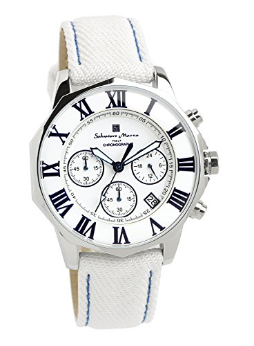 [サルバトーレマーラ] 腕時計 ウォッチ 10気圧防水 ビジネス フォーマル デニムレザー使用 メンズ 【雑誌掲載モデル】