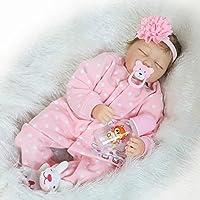 ソフトビニール新生児シリコンToys Sleeping Rebornベビーガール人形22インチマグネットダミーfor Kids Children