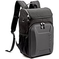 Evecase Shell DSLR Camera / 15.6-inch Laptop Water Resistant Backpack Travel Daypack w/Rain Cover and Inner Bag for Nikon Canon Fujifilm Sony Digital SLR, Mirrorless Camera and More