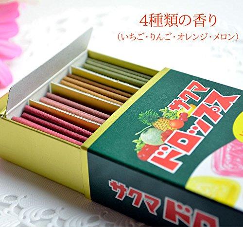 サクマドロップス ミニ寸線香 (故人の好物シリーズ) 約10g×4種