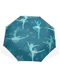 AOMOKI 折り畳み傘 折りたたみ傘 手開き 日傘 三つ折り 梅雨対策 晴雨兼用 UVカット 耐強風 8本骨 男女兼用 バレエ 雪 ダンス