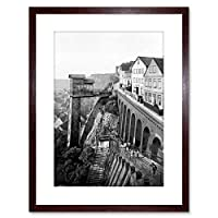 Vintage Photo Grand Staircase Helgoland Framed Wall Art Print