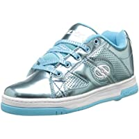 Heelys Split Chrome Skate Shoe (Toddler/Little Kid/Big Kid), Blue, 8 M US Big Kid