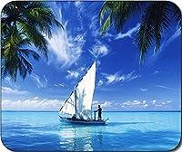 1x Scenic Sailing Sail boat tropical beach LargeマウスパッドマウスパッドGreat Gift Idea