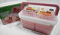 ◇リラックマデリ(^^餅手付二段ランチボックス ピンク調
