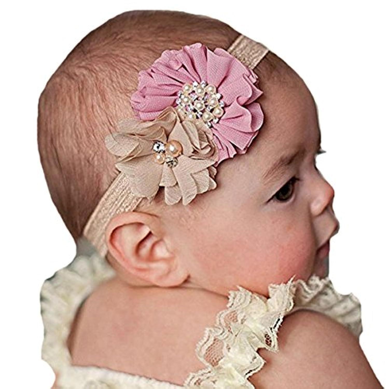 miugleベビーかわいいヘッドバンドラインストーンヘアリボン幼児用女の子ヘアバンドハードウェア