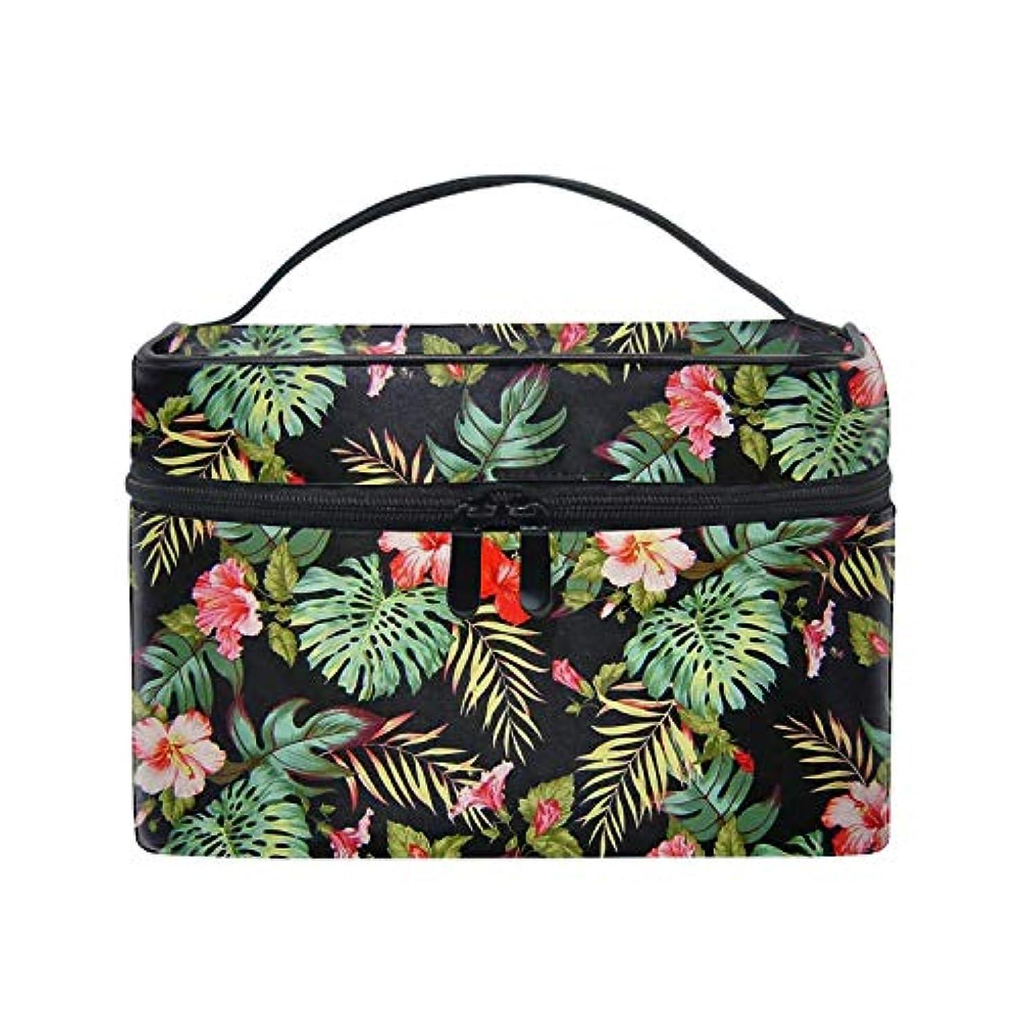 あなたのもの些細な実証する熱帯の花柄化粧ポーチ トラベルポーチ 収納ポーチ 旅行ポーチ 小物入れ マルチポーチ かばん 防水 旅行