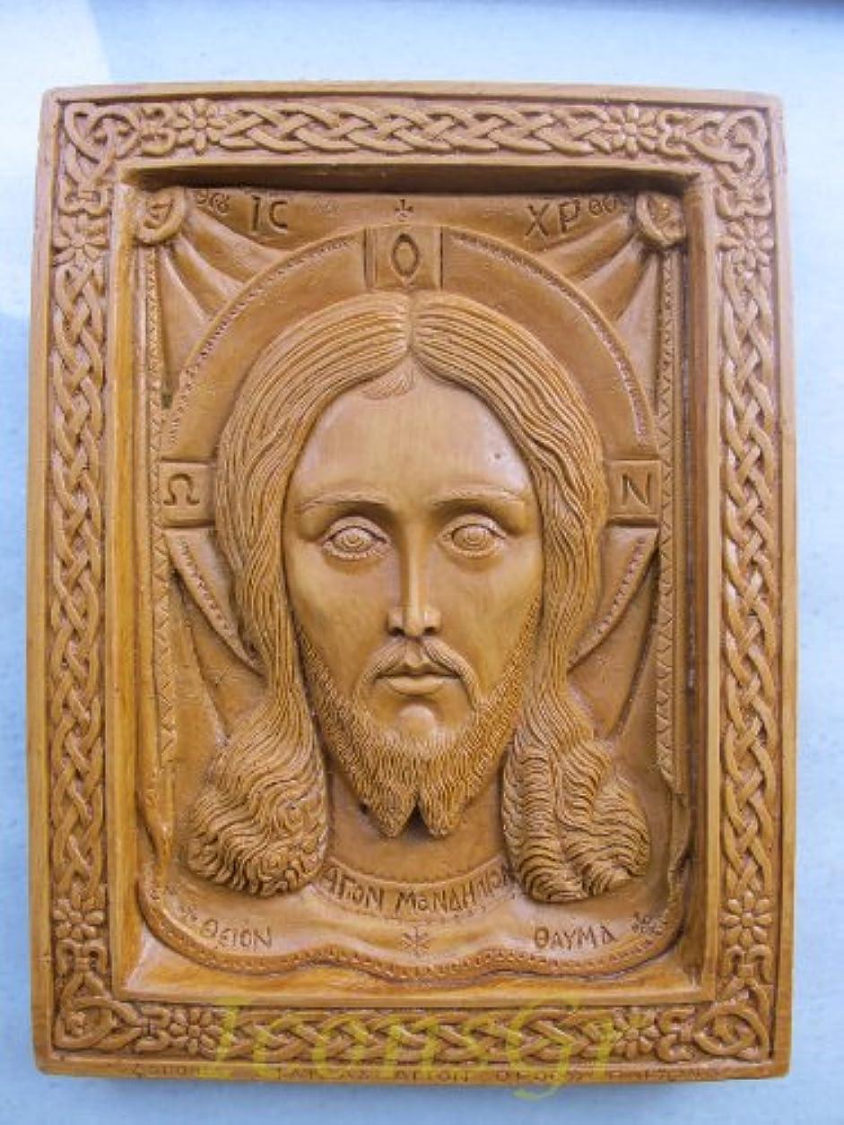 慣らす絵存在するHandmade Carved Aromaticワックスから祝福アイコンアトスのマンディリオン127