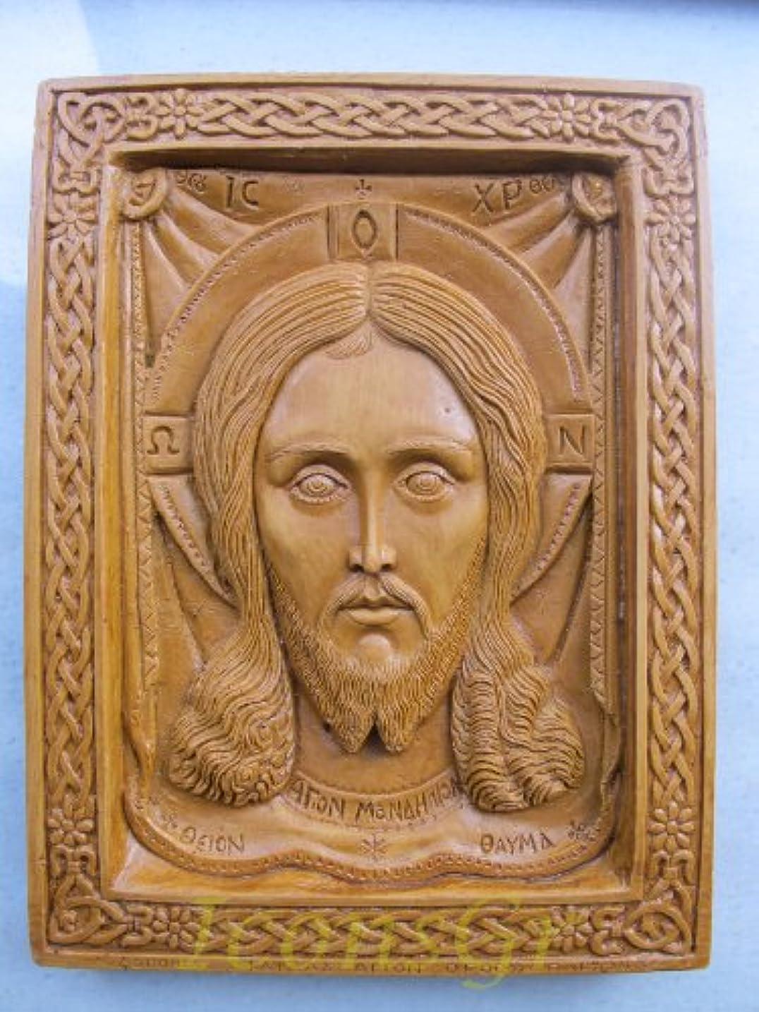 毎回強います左Handmade Carved Aromaticワックスから祝福アイコンアトスのマンディリオン127