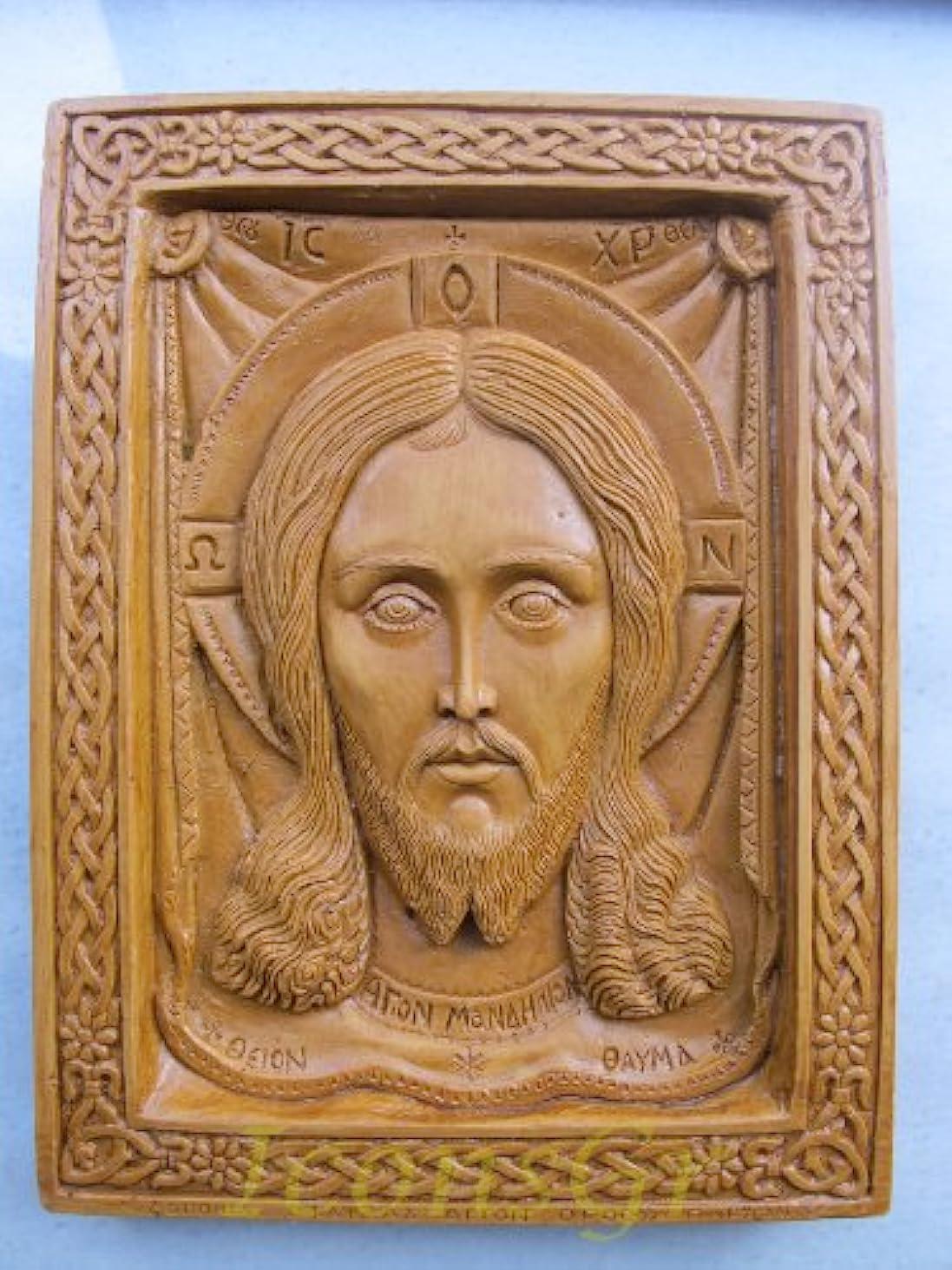 祝うストッキングルーキーHandmade Carved Aromaticワックスから祝福アイコンアトスのマンディリオン127