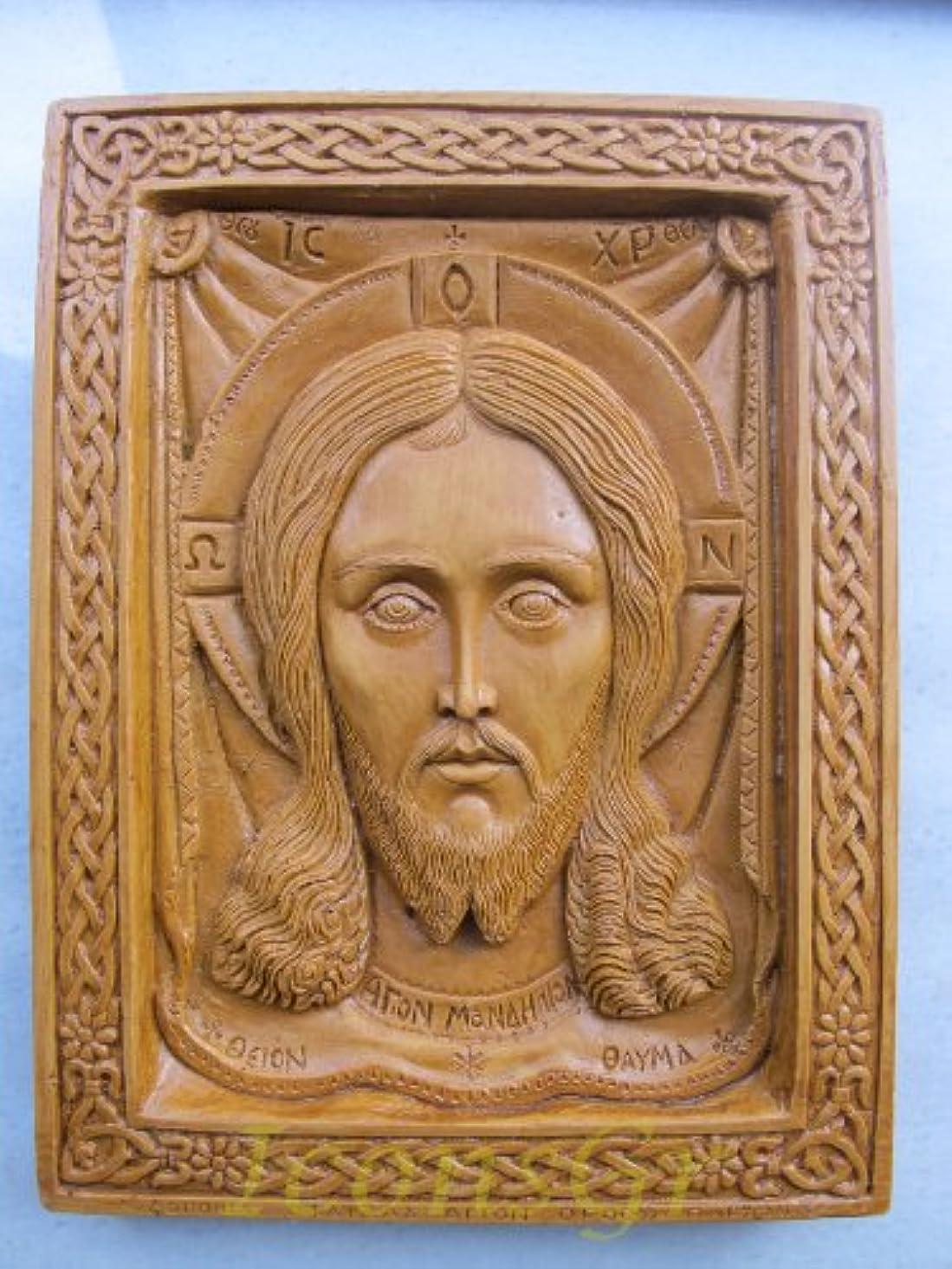 誠意渦まぶしさHandmade Carved Aromaticワックスから祝福アイコンアトスのマンディリオン127