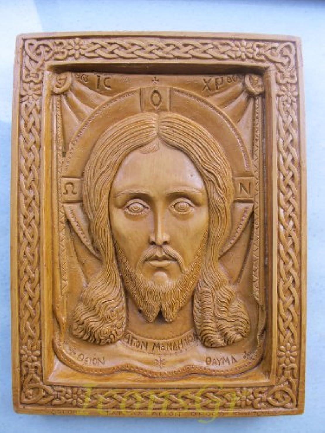状況頼る飛躍Handmade Carved Aromaticワックスから祝福アイコンアトスのマンディリオン127