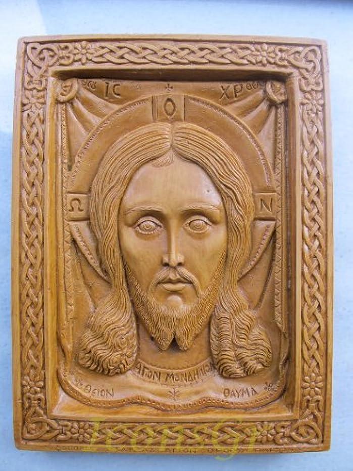 Handmade Carved Aromaticワックスから祝福アイコンアトスのマンディリオン127