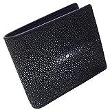 スティングレイ(ガルーシャ) エイ革 財布 メンズ レディース 二つ折財布 ST20594S102 ブラック [並行輸入品]