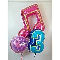 音符と数字の誕生日カード付きバルーン