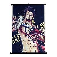 ワンピースファブリックウォールスクロールアニメギフトポスター(ロロノアゾロ2、40×60cm)