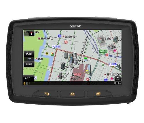 RWC(アール・ダブリュー・シー) 5インチ半透過型HD液晶 ゼンリン地図(2016年度春版)搭載 バイク用ポータブルナビゲーション X-RIDE RM-XR550-XL【クレードル改良版】 X-LINK機能 バイクナビ バイクナビ専用マップデータ内蔵 GPS GPSナビ ゼンリンマップ Bluetooth スマートフォン 連動アプリ