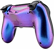eXtremeRate Purple and Blue Bottom Shell, Chameleon Back Housing Case Cover, Replacement Parts for Playstation