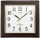 CITIZEN ( シチズン ) 電波 掛け時計 ネムリーナアスカ 木 茶 8MY455-006