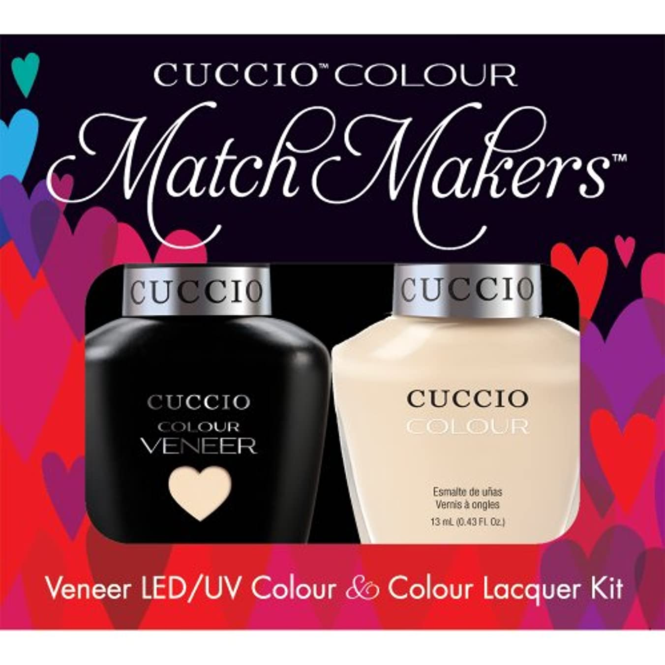 頭舗装する弓Cuccio MatchMakers Veneer & Lacquer - So So Sofia - 0.43oz/13ml Each