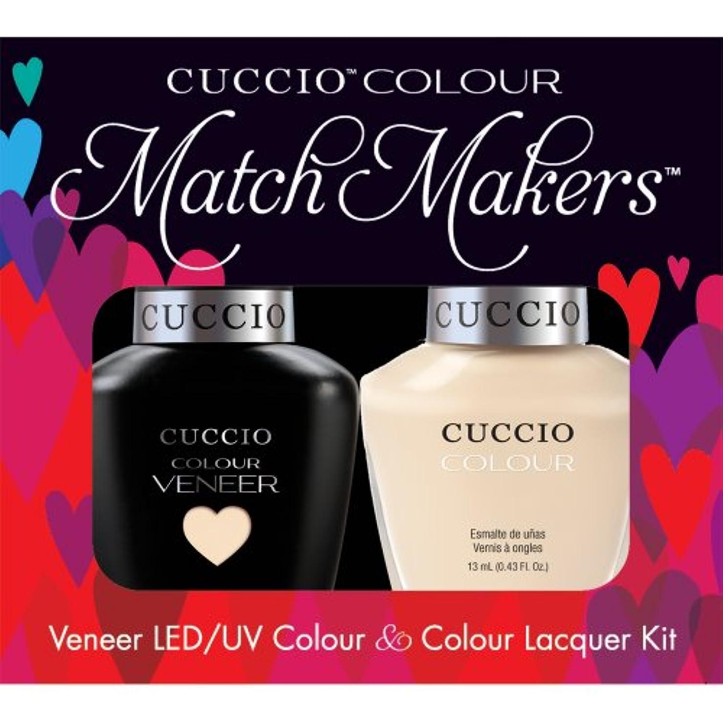 空いている乳白侮辱Cuccio MatchMakers Veneer & Lacquer - So So Sofia - 0.43oz/13ml Each