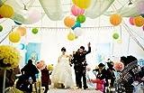 選べる 多彩 な カラー 紙提灯 紙ちょうちん 直径 30cm 10個 入り パーティー 祭り イベント 結婚式 装飾 に 白 赤 緑 黄色 青 紫 星型夜光ステッカー セット (グリーン)