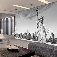 Wuyyii 注文の壁紙ヨーロッパの現代建築の自由の壁画の像寝室の居間Tvの背景3Dの壁紙