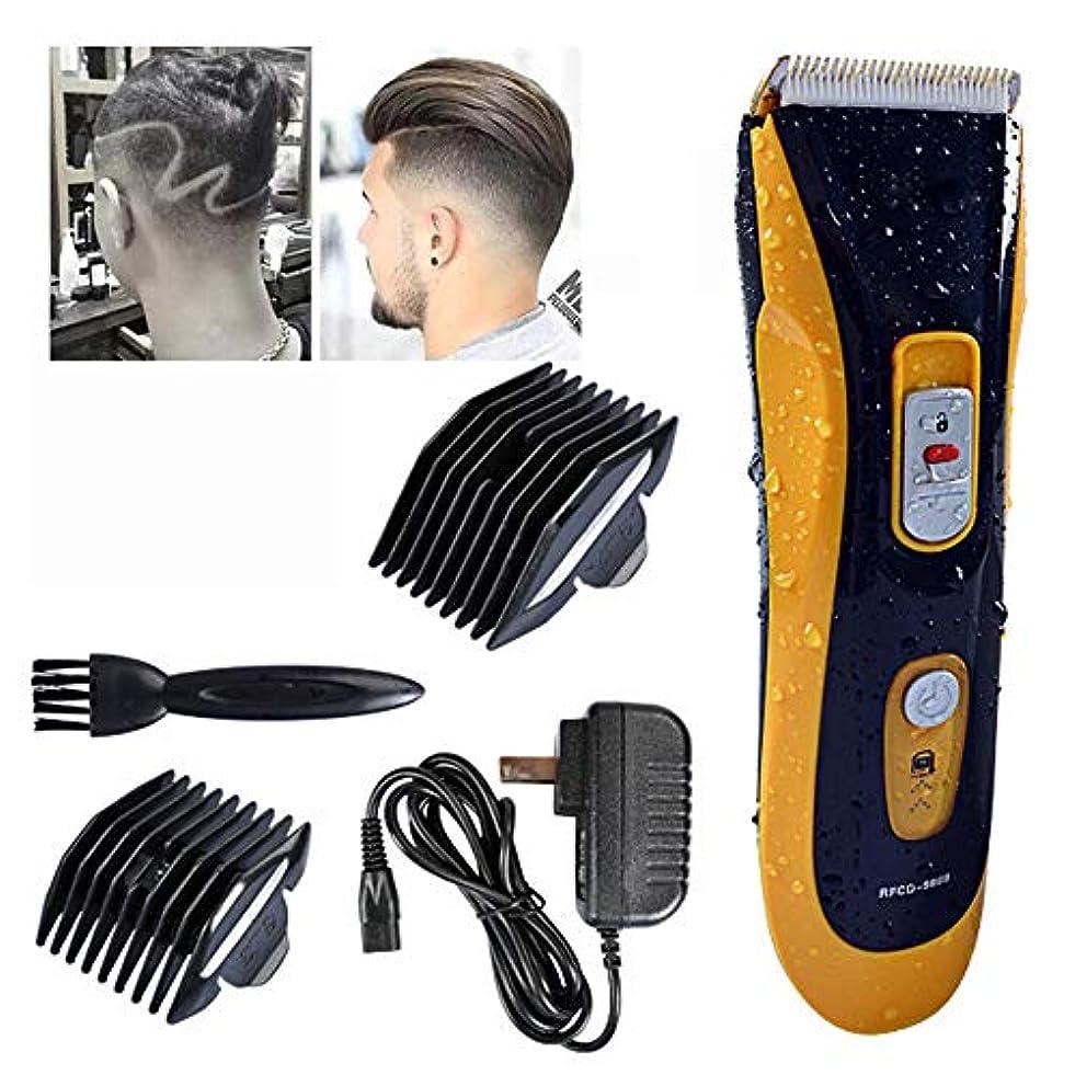 地殻厄介な前奏曲メンズバリカンミュート電動バリカン理髪プロフェッショナル電動バリカンユニバーサル電動フェーダー洗える