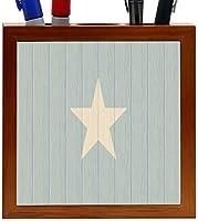 Rikki Knight Somalia Flag on Distressed Wood Design 5-Inch Wooden Tile Pen Holder (RK-PH8791) [並行輸入品]