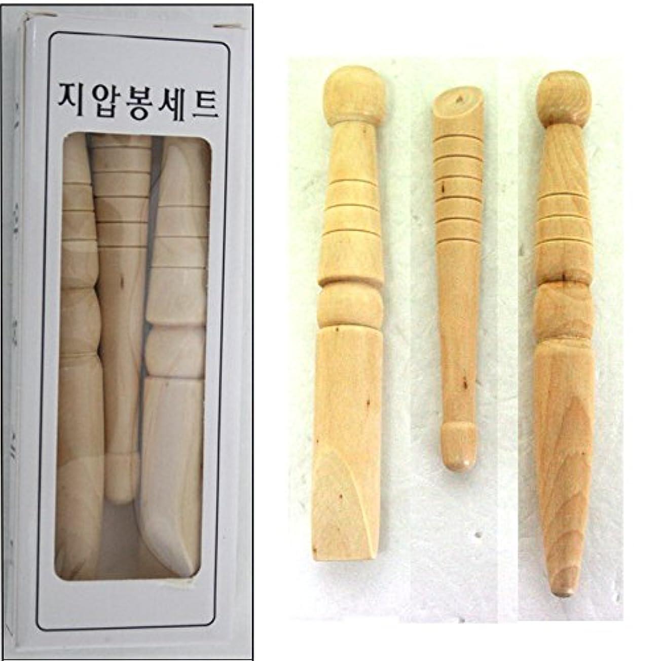 レルムまあかもしれないフットマッサージ / Foot Massage / フットマッサージ/リフレクソロジー健康木製3EAスティックツールReflexology Health Wooden 3ea Stick Tool with Chart...