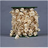 Joinwin 30M 1 roll 12MM 4MM 1lot Cream pearl Beads string Garland Wedding Centerpiece party decoration crafting DIY accessory [並行輸入品]
