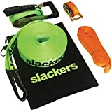 Slackers 50' Outdoor Slackline Classic Outdoor Climbing Play, Yellow, 600 Inches