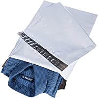 Fuxury 宅配ビニール袋 100枚 宅配ポリ袋 宅配袋a4 梱包 配送袋 配送用 ビニール袋 厚手 強力テープ付き 25.4x33cm(白い)