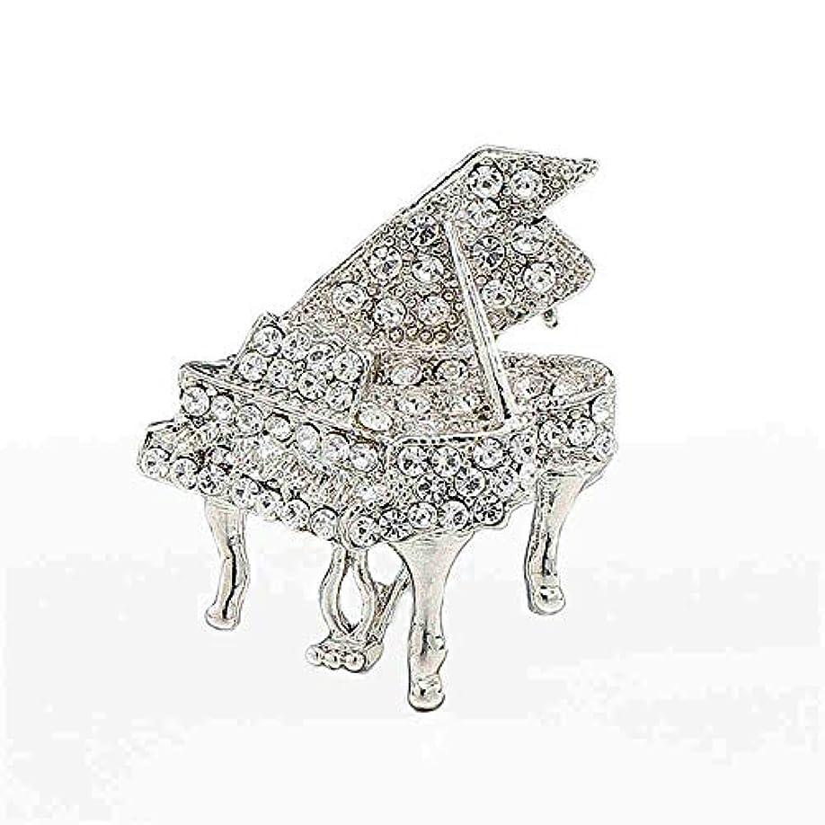不快な縫う急襲生地と花石鹸の花 ヴィンテージメンズと女性ダイヤモンドピアノスーツタキシードロマンチックパーティブローチジュエリー