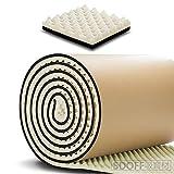 SDOFF 吸音材防音材防音シート 遮音シート壁 極厚3cm 大面積 100cm×300cm ロール波型/裏面が粘着テープ付きなのでカットして簡単貼り付け (3M, ベージュ)