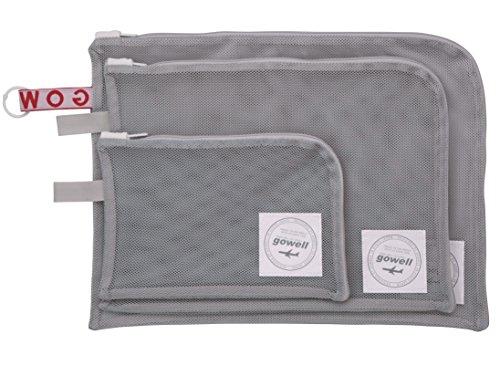 衣類 がそのまま 洗える 収納 ポーチ 3サイズ 3点セット グレー