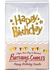 カメヤマキャンドル(kameyama candle) バースデーケーキ用キャンドル 「 ゴールド 」