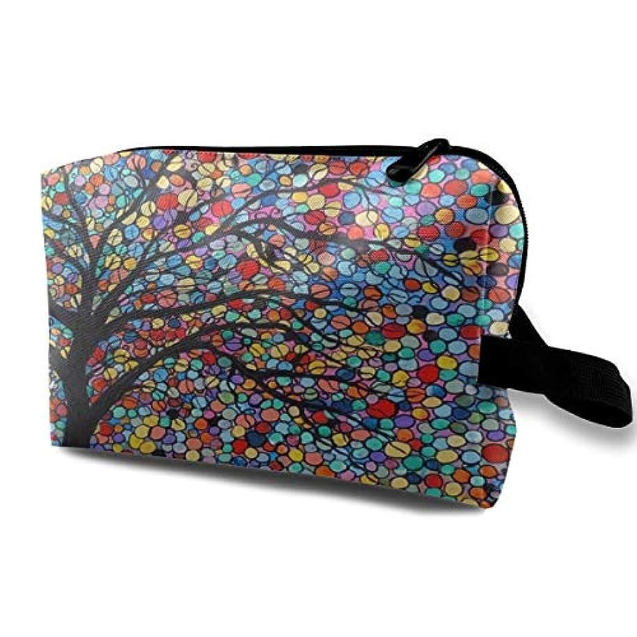 船員フィード検索エンジン最適化Colorful Art Tree Mosaic 収納ポーチ 化粧ポーチ 大容量 軽量 耐久性 ハンドル付持ち運び便利。入れ 自宅?出張?旅行?アウトドア撮影などに対応。メンズ レディース トラベルグッズ